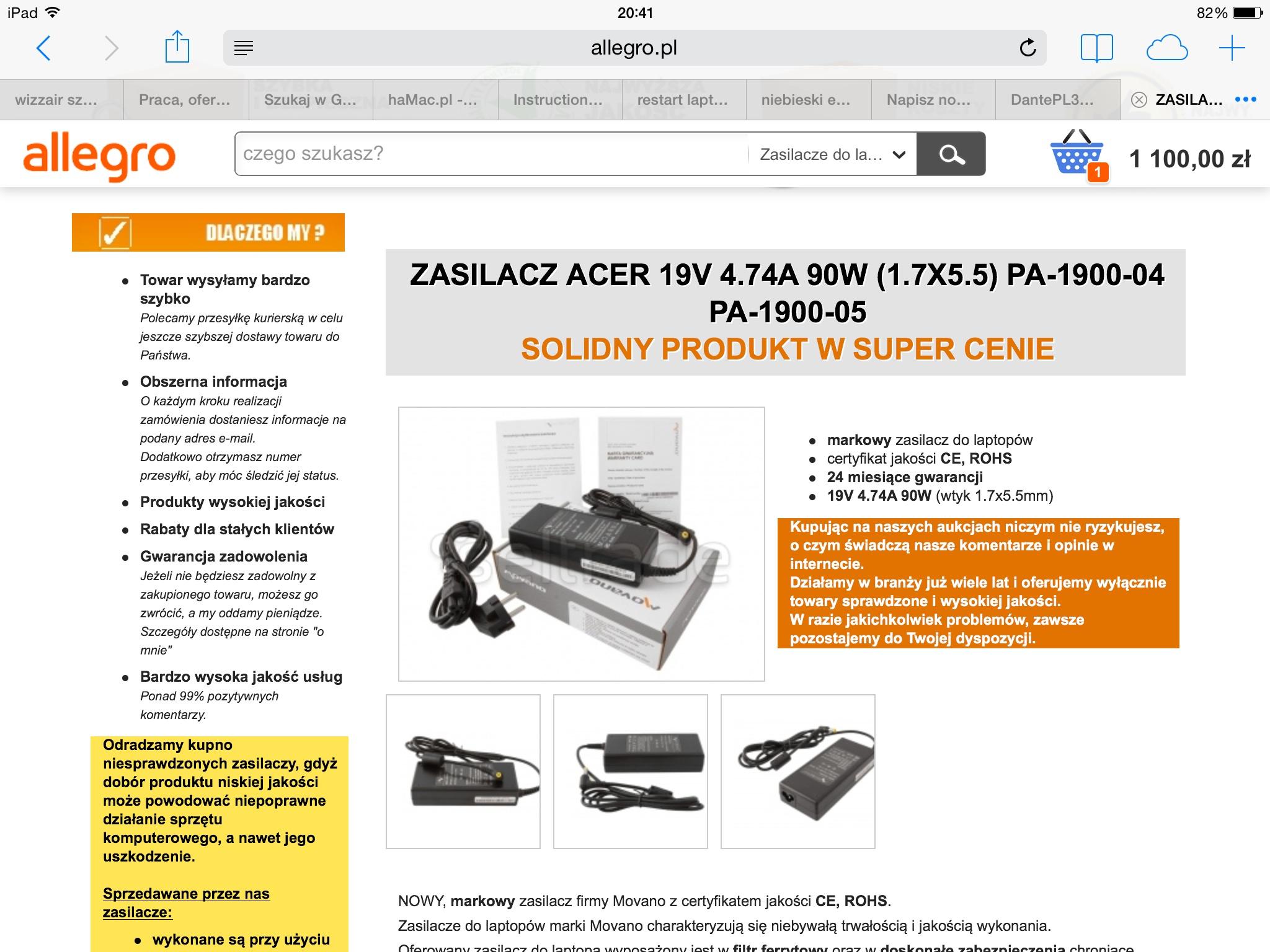 Acer/aspire/5930/centrino/9600 - Restart przy pr�bie �adowania Windowsa.