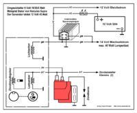 Suzuki RG 80 - palący się regulator napięcia
