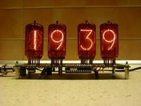 Zegar z lampami NIXIE - projekt własny