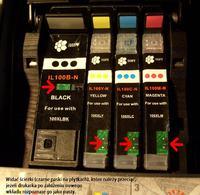 Lexmark S301 - nowy tusz poziom 0