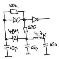 Generator kwarcowy 48MHz dob�r element�w.