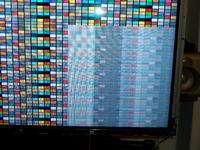 Sharp LC-46XL2E - biały kwadrat na 1/4 ekranu