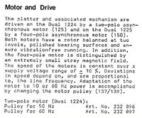 Gramofon Dual 1225 zbyt ma�a pr�dko�� obrotowa silnika