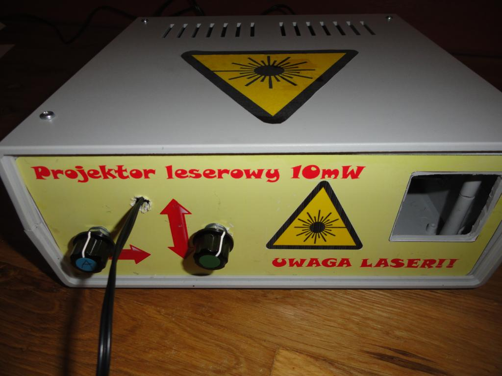 Projektor laserowy HDD-sterowany d�wi�kiem