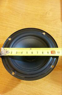 Uszkodzony głośnik niskotonowy w kolumienkach Aivio ls400