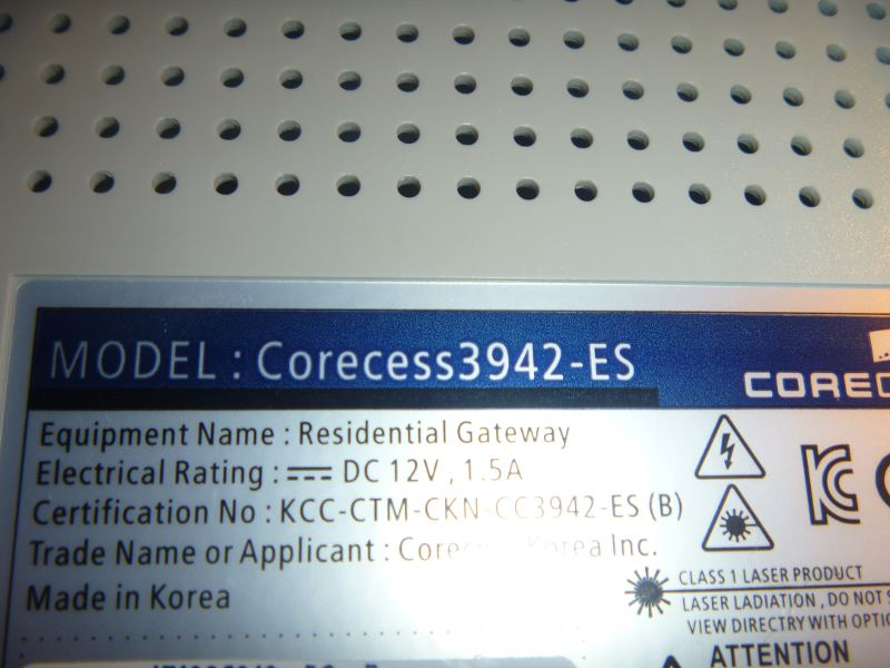 Modem Corecess 3942-ES Linux - upgrade