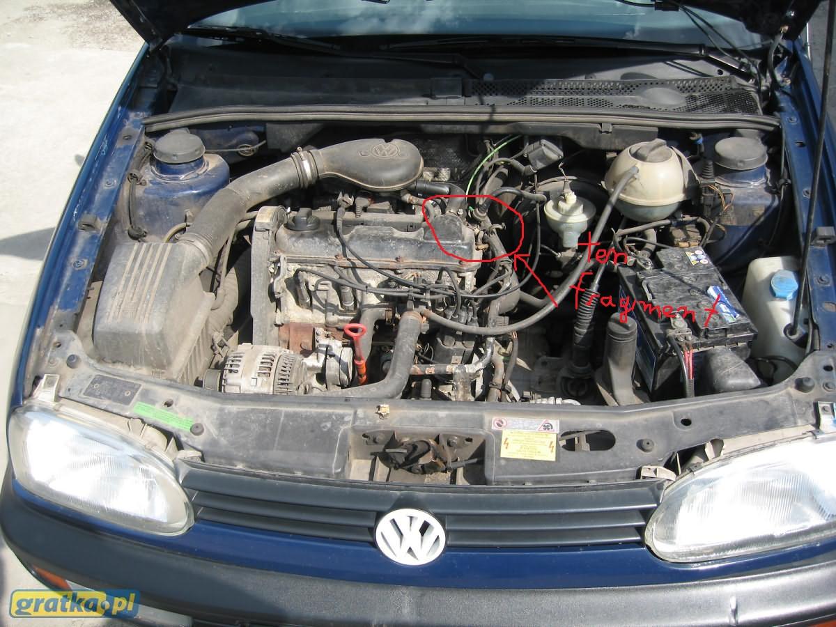 Potrzebuje zdjęcie fragmentu silnika w Golfie 3 1.8 AAM