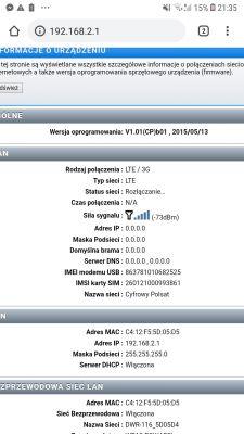 DWR-116 rozlacza internet