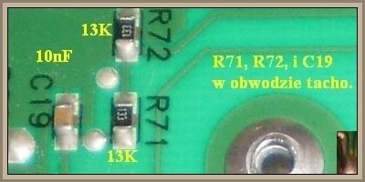 Pralka Mastercook PTD124 - uszkodzone tacho oraz rezystory R71 R72
