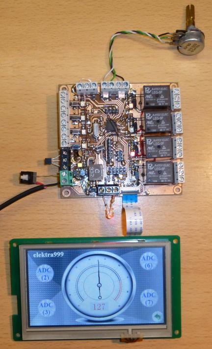 Projekt edukacyjny AVR + DGUS (ATMEGA8)