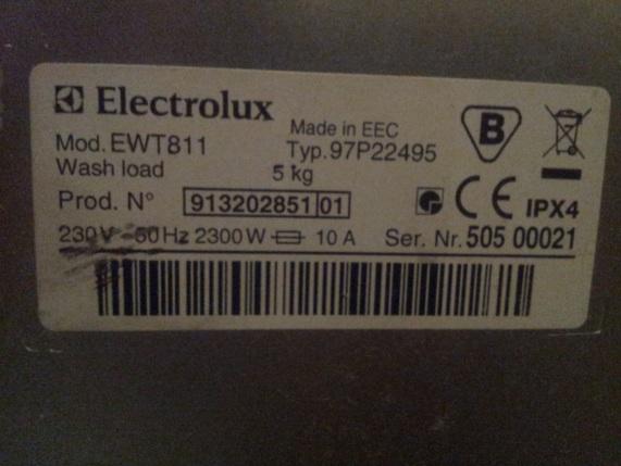 Electrolux EWT811 - nie grzeje