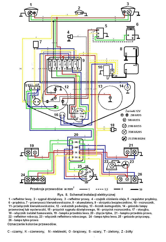 URSUS C-360 - INSTALACJA ELEKTRYCZNA + LAMPY ROBOCZE