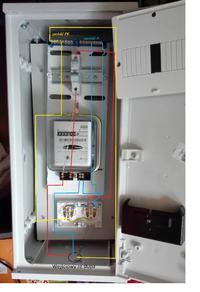 Podłączenie licznika, bezpiecznika i gniazdka na działace