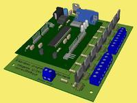 8-kanalowy programowalny sterownik halogenów 12/24V DC