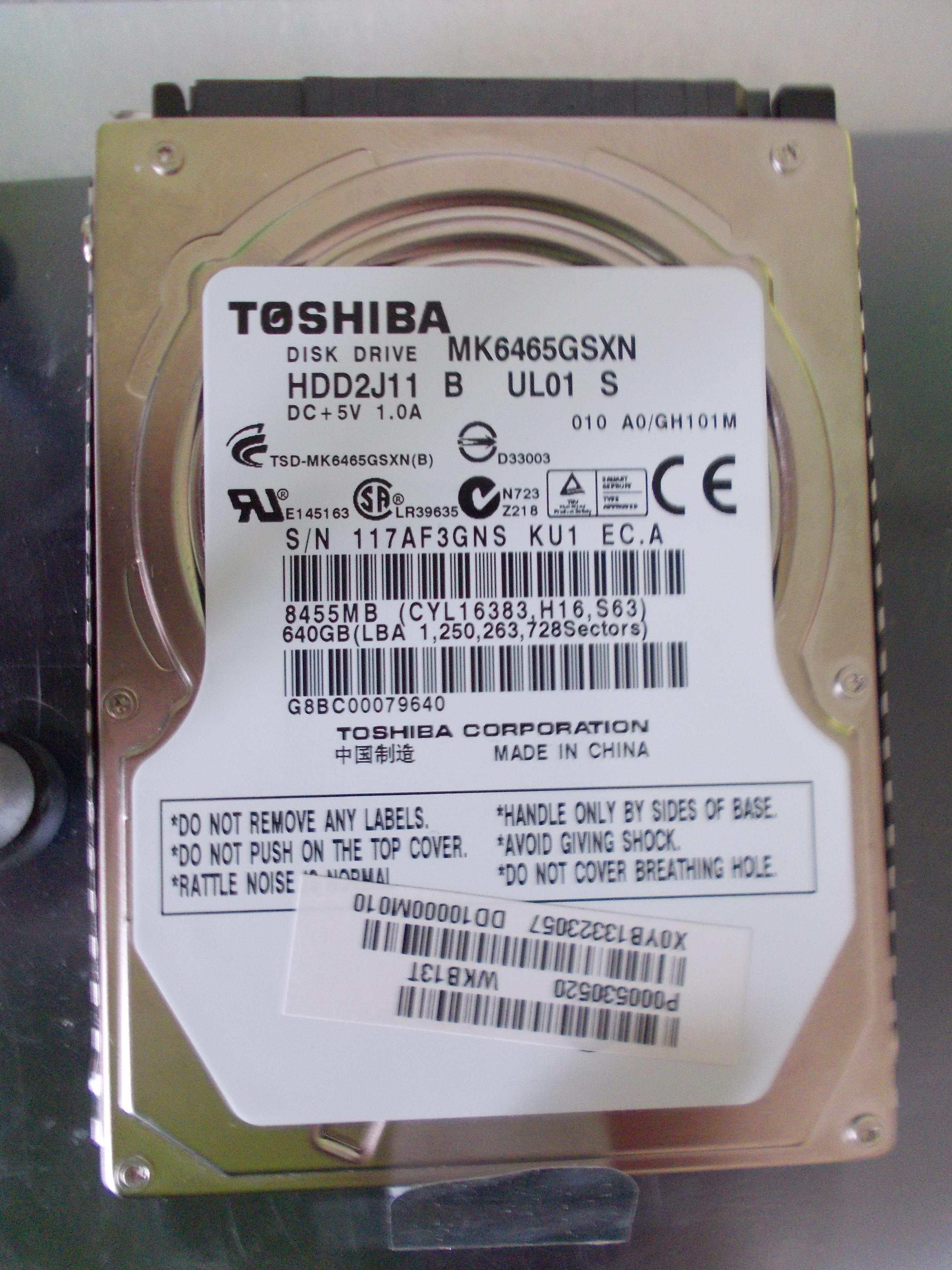 [Kupi�] [kupi�]ELEKTRONIK� LUB CA�Y DYSK HDD TOSHIBA MK6465GSXN