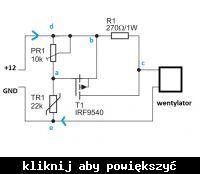 Modulowane zasilanie wentylatora - pytanie o termistor