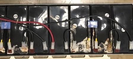 Różne awarie akumulatorów.