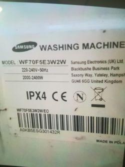 Pralka Samsung WF70F5E3W2W- - Wystrzelony stabilizator