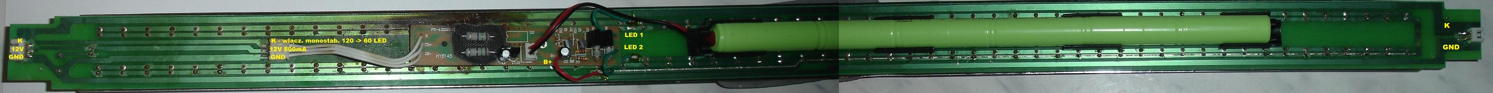 Ustalenie uk�adu scalonego w lampie 120 LED