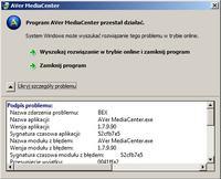 AVerMedia H727E CaptureHD - Błąd BEX przy zapisie strumienia (analogTV/radio)