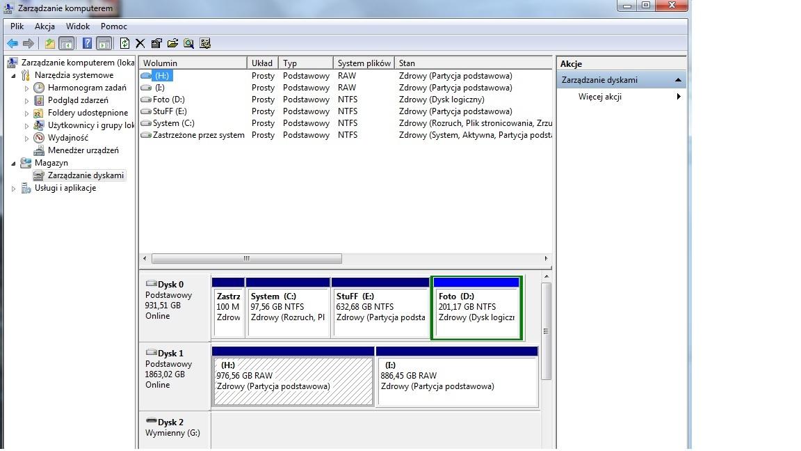 Dysk hitachi HDS723020bla642 - System nie widzi dysku