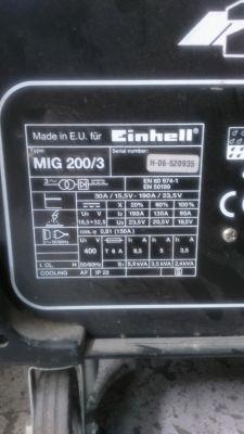 Spawarka Einhell 200/3, podłączenie zasilania