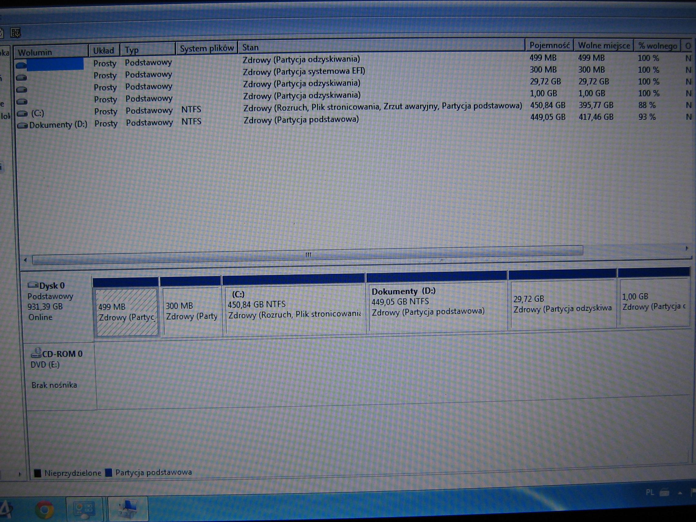 Samsung NP350V5C, Windows 8 x64 - tablica partycji GPT, instalacja Windows 7 x64