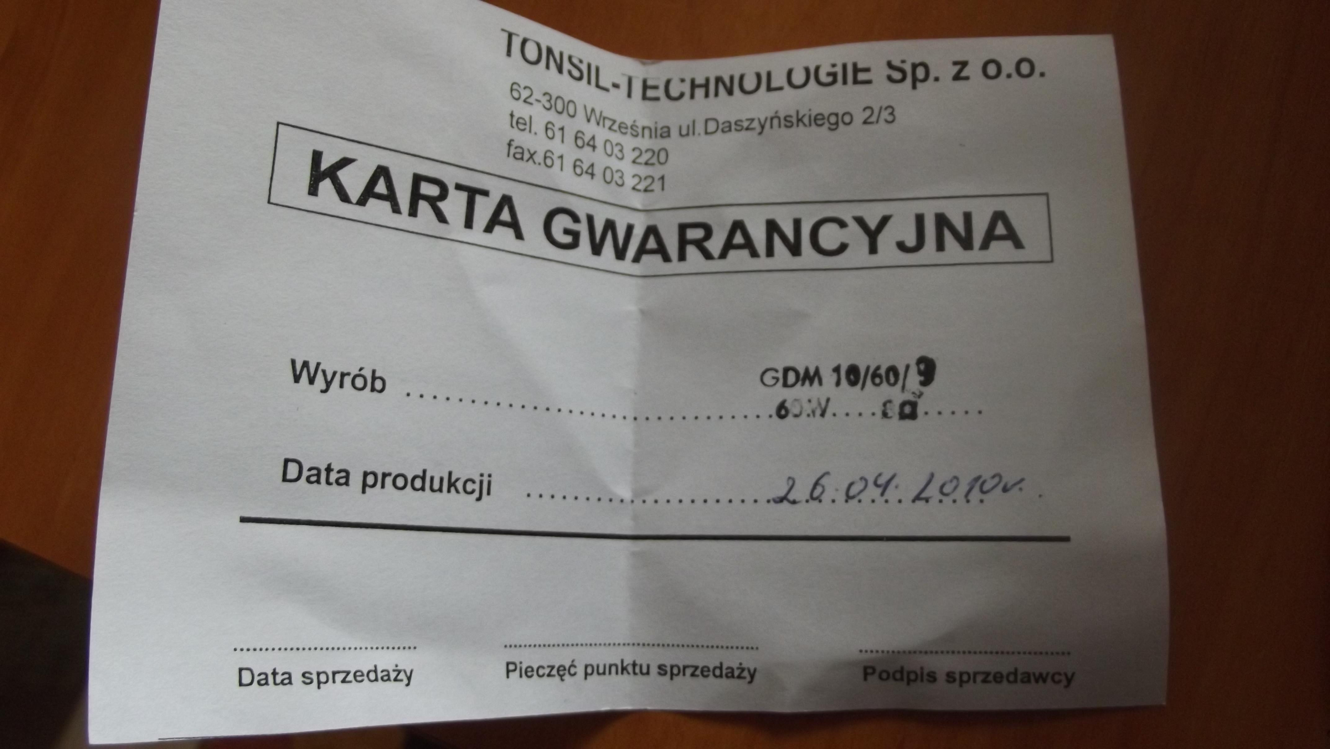 [Sprzedam] GDM Tonsil 10/60/9 8ohm 60W
