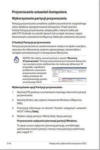 Asus  - Recovery DVD Asus przywracanie systemy