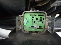Z��czki w gnie�dzie przeka�nika wentylatora w Peugeot 206, 1.4B, klima, 2001r.
