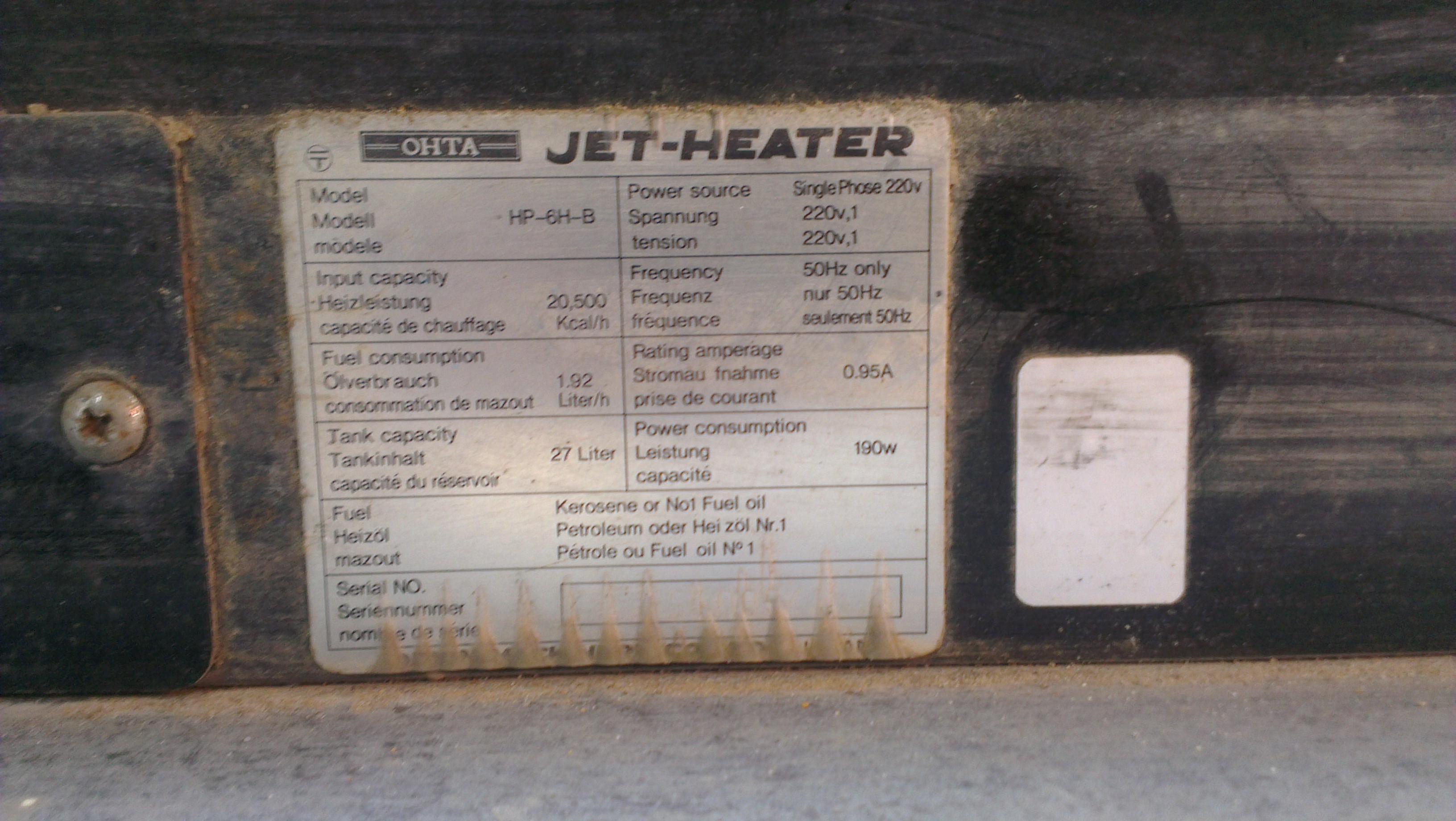 Nagrzewnica OHTA  HP-6H-B - sterowanie nagrzewnic�-uszkodzone? po�amane-niekompl
