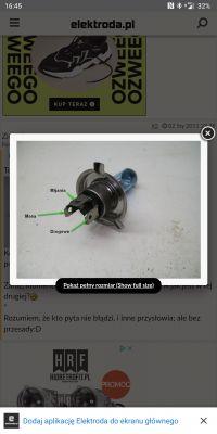 Podłączenie kabli soczewek bi LED przez kostkę męską H4