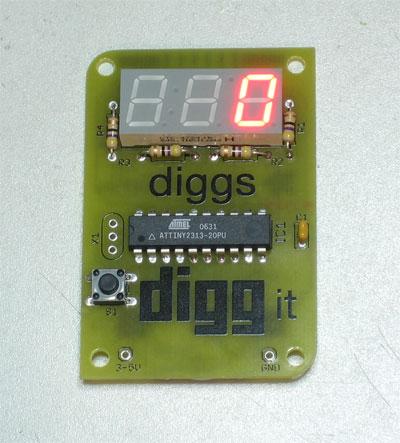 Licznik AVR z wyświetlaniem wiadomości dla początkujących