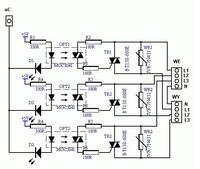 Układ wykonawczy na optotriakach, na 400V jak wykonać?