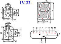Zegar VFD na rzadkich radzieckich IW-22