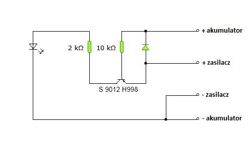 Zasilacz impulsowy do ładowania akumulatorków NiCd.