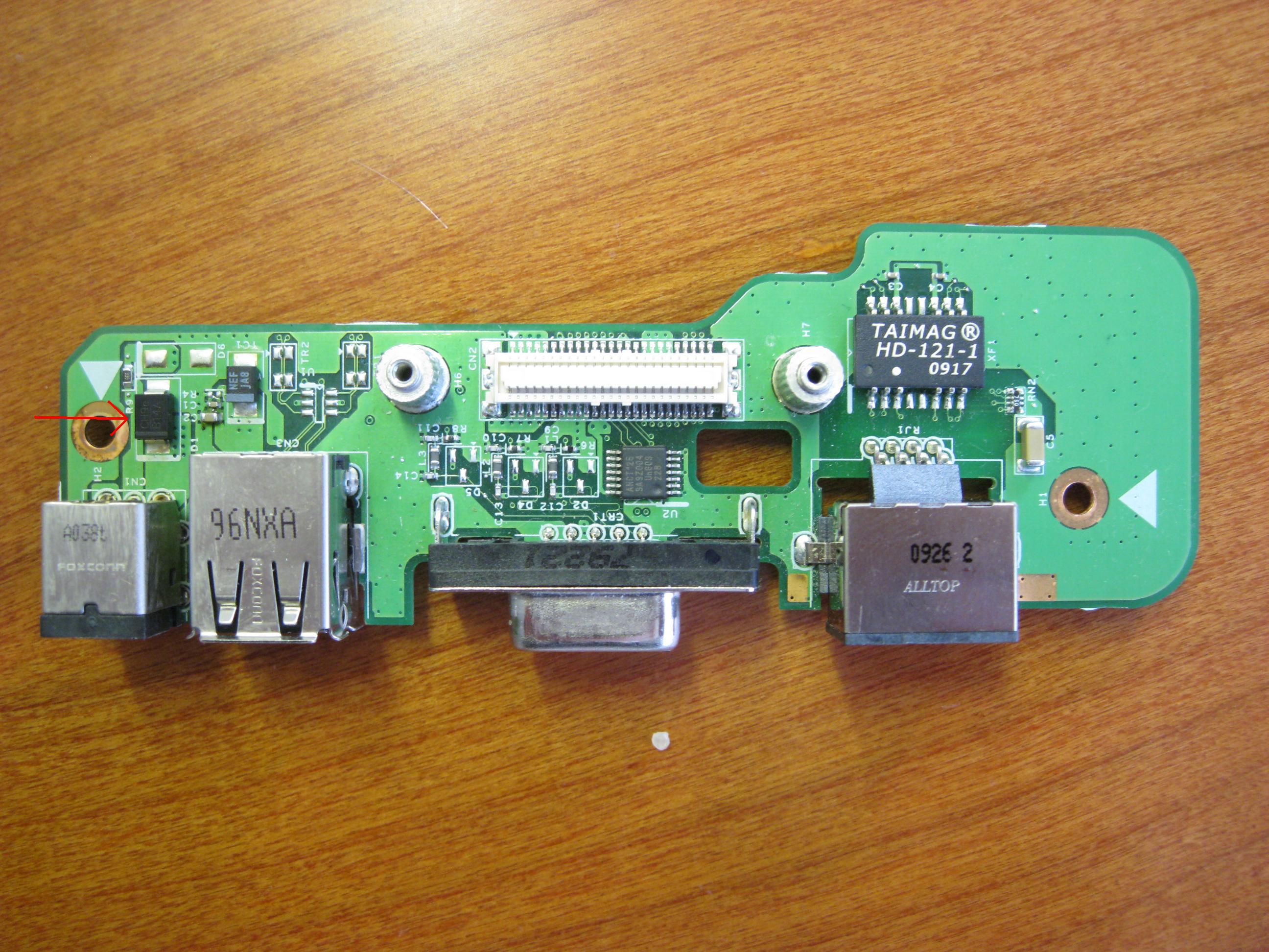 Dell 1545 - nie �aduje - dioda D1