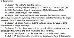 Moduł dźwiękowy MP3 5W z pamięcią wewnętrzną