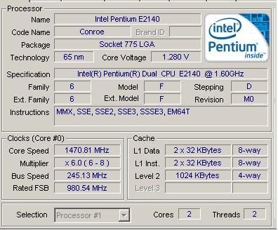[Sprzedam] E2140 + 512MB DDR2 RAM + ASUS P5GC-MX/1333 + par� cz�ci