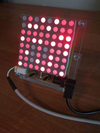 Zegar / termometr z matryc� LED 8x8