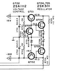 Technics Su-v60 - uszkodzony tranzystor q702