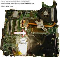 Toshiba equium a300d uszkodzony ,nie chce sie w��czy�