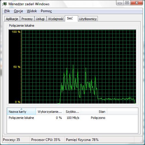 Sieci Windowsowe - Zwalnianie transferu podczas kopiowania plik�w skr�tk�.