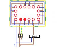 Podłączenie oświetlenia żarówkami GU10 w podbitce dachowej