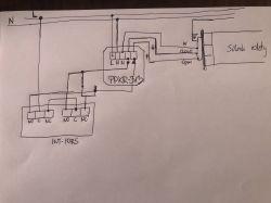 Podłączenie:Integra-sterowanie rolet + przycisk z odbiornikiem radiowym PPKR 313