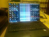 HP G72 - Skacz�ce paski na monitorze HP