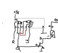 Przerzutnik RS na bramkach NOR nie załącza tranzystora