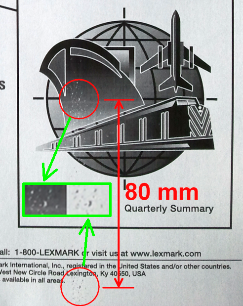 """Lexmark E350d """"nieutrwalone wydruki"""" zabrudzone"""