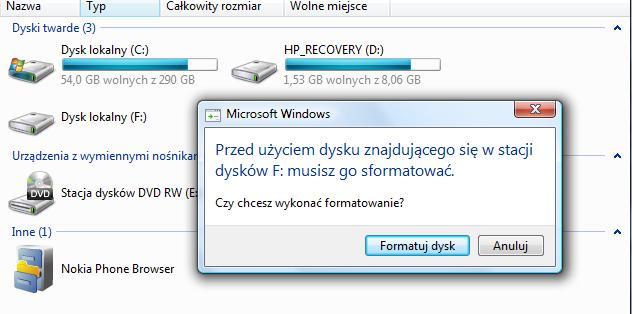 Dysk zewn�trzny - komputer nakazuje formatowanie, wa�ne dane.
