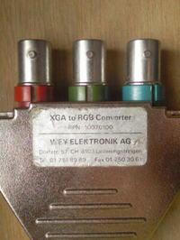 VGA na sygnał wideo RGB i do eurozłącze
